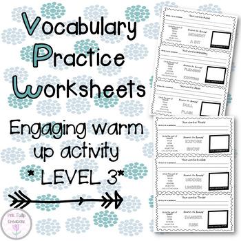 Vocabulary Worksheets - Level 3, Grades 3-4