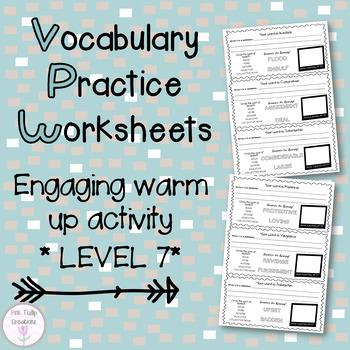 Vocabulary Worksheets - Level 7, Grades 7-8