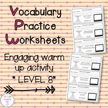 Vocabulary Worksheets - Level 8, Grades 8-9