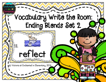 Vocabulary Write the Room: Ending Blends Set 2