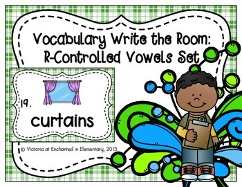 Vocabulary Write the Room: R-Controlled Vowels Set