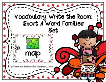 Vocabulary Write the Room: Short A Word Families Set