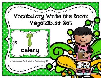 Vocabulary Write the Room: Vegetables Set