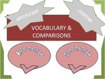 Vocabulary and Comparisons