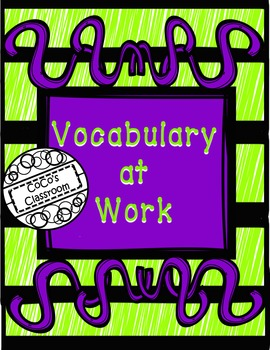Vocabulary at Work FREEBIE