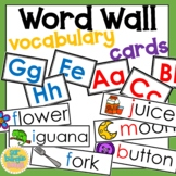 Vocabulary for word walls