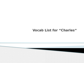 """Vocabulary for """"Charles"""" by Shirley Jackson"""