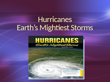 Vocabulary for Hurricanes Earth's Mightiest Storms; Journe