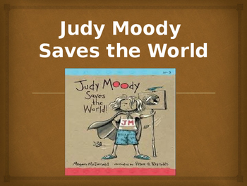 Vocabulary for Judy Moody Saves the World: Journey's Lesson 16