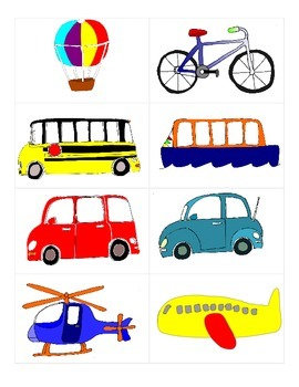 Vocabulary for Transportation Spanish/