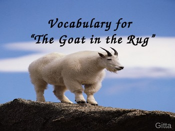 Vocabulary for a Goat in the Rug-Journey's Edition