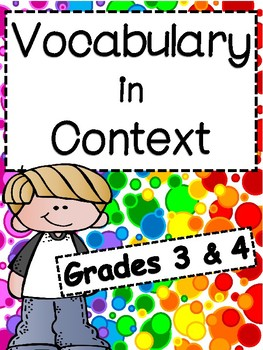 Vocabulary in Context: 3rd/4th Grade