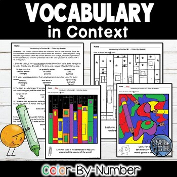 Vocabulary in Context Color by Number