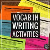 Vocabulary Words in Writing: 10 Practice Activities to Dee