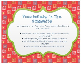Vocabulary in the Community Unit