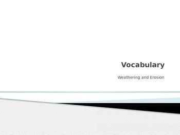 Vocabulary on Weathering Unit