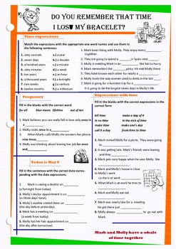 Vocabulary related to time expressions