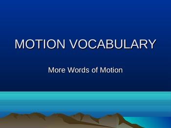 Vocabulary to Describe Motion