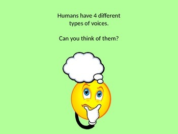 Vocal Discovery- 4 types of voices
