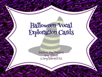 Vocal Exploration Cards for Halloween