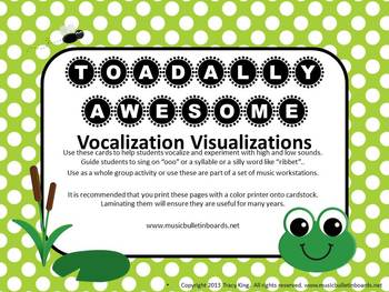 """Vocal Exploration/Singing Visual Aid: Frogs """"TOADally Awesome"""""""