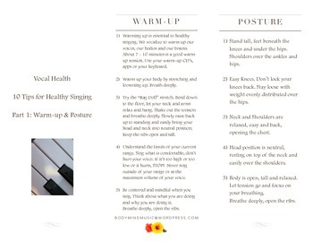 Vocal Health: 10 Tips for Healthy Singing Warm up & Posture