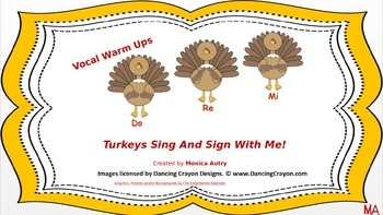 Vocal Warm Ups, Turkey's Sing And Sign With Me!
