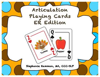 Vocalic ER Articulation Playing Cards
