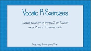 Vocalic R Exercises