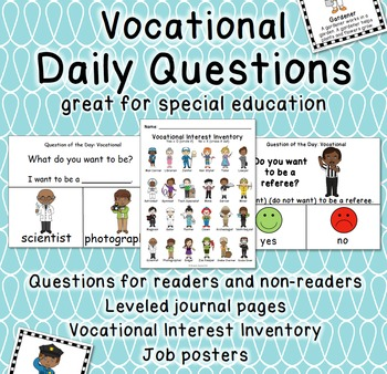 Vocational Visual Daily Questions with Job Posters for Spe