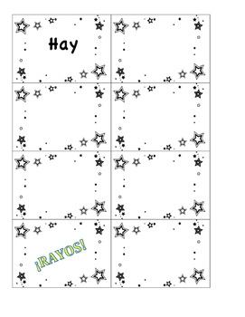 Voces Digital Textbook Novice Rayos Vocabulary Game Chapter 2