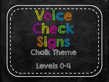Voice Check / Voice Level Posters Chalk Theme