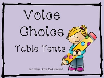 Voice Choice Table Tents