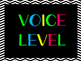 Voice Level Chart (Black and Neon)