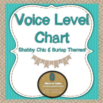 Voice Level Chart - Shabby Chic and Burlap Themed