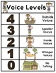 Voice Level Chart with a Camping Theme