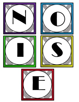 Voice Level Charts - Set Noise Level Expectations Anchor Charts