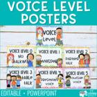 Voice Level Posters - Cursive {Editable}