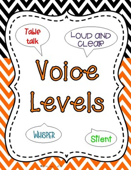 Voice Levels (Also included in classroom management bundle)