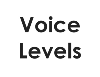 Voice Levels Chart (English and Spanish)