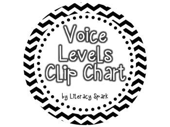 Voice Levels Clip Chart {Black & White Chevron}
