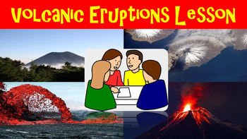 Volcanic Eruptions No Prep Lesson with Power Point, Worksh