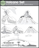 Volcano Clip Art Set {Messare Clips and Design}