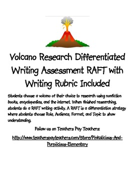 Volcano Research Differentiated Writing Assessment RAFT Wr