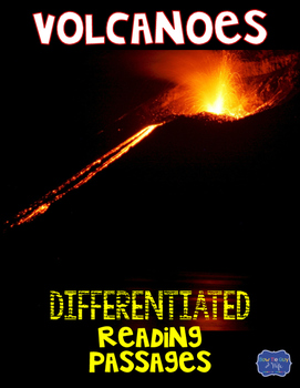 Volcanoes Differentiated Reading Passages & Questions