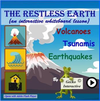 Volcanoes, Earthquakes & Tsunamis -  a Smartboard/Interact
