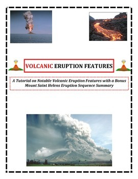Volcanoes: Eruption Features (Definitions and Images with