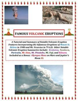 Volcanoes:  Famous Eruptions (Vesuvius and Pompeii FEATURE
