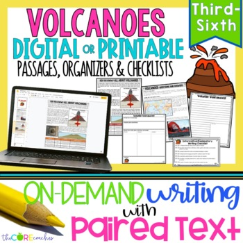Volcanoes Paired Texts: Great For Informational or Explana