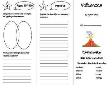 Volcanoes Trifold - California Treasures 6th Grade Unit 5 Week 1